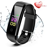 Fitness Trackers - ANCwear Activity Tracker Watch with Heart Rate Blood Pressure Monitor, Waterproof Watch with Sleep Monitor, Calorie Step Counter Watch for kids Women Men Compatible IPhone Android Phones