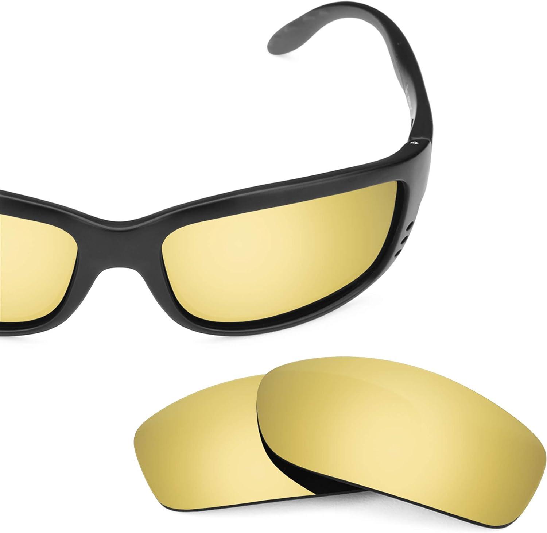 Revant Lenti di Ricambio Costa Zane - Compatibili con Occhiali da Sole Costa Zane Oro Brillante Mirrorshield - Polarizzate