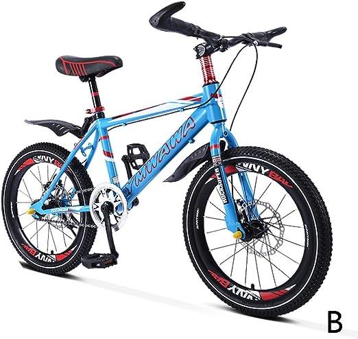 Bicicletas Estudiante Sola Velocidad montaña niño niña 18 Pulgadas 20 Pulgadas, Marco de Acero de Alto Carbono (Color : B, Size : 18inches): Amazon.es: Hogar