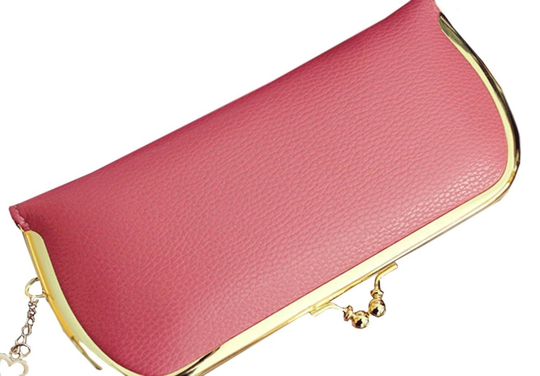Unomatch Women's Metal Frame Clutch Handbag Wallet