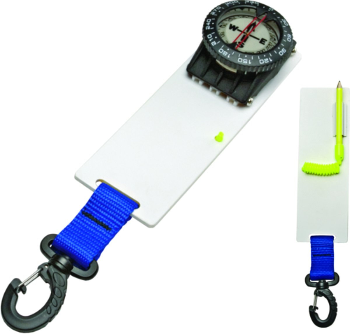 Innovative Scuba Diving Compass Slate with Clip (Yellow)