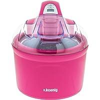 H.Koenig SRB60 Eismaschine / Eiscrememaschine / 30-40 Minuten Zubereitungszeit / 1,5 L / rosa