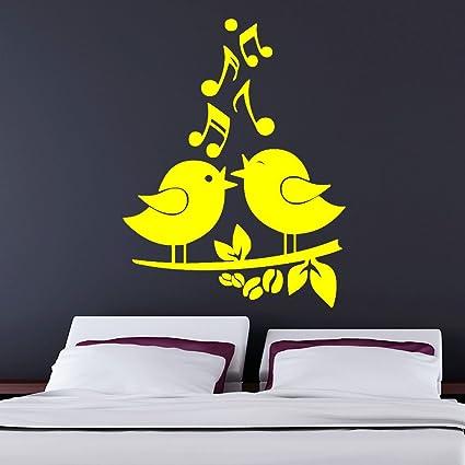Amazon.com: Singing Birds Living Room Vinyl Wall Decal Stickers Easy ...