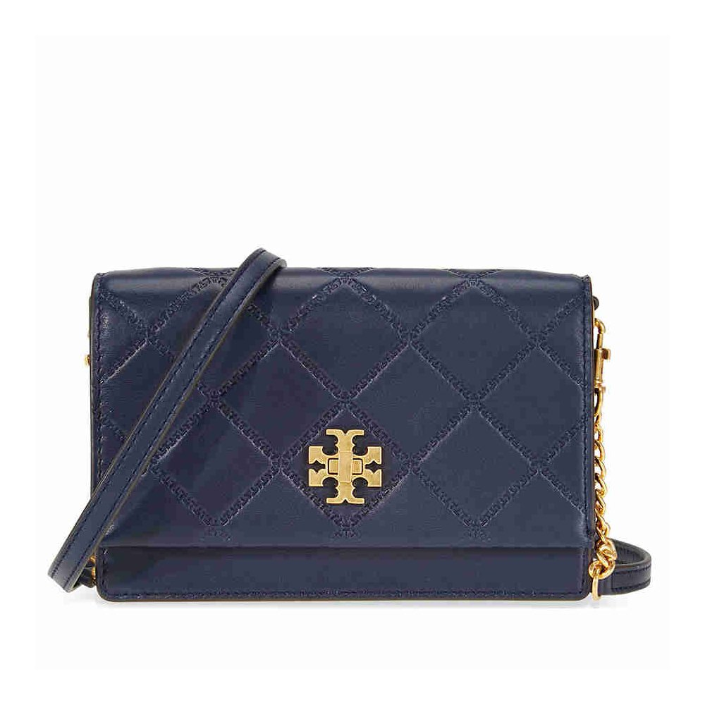 6bf1a7588d32 Amazon.com  Tory Burch Georgia Turn-Lock Mini Bag in Royal Navy  Clothing