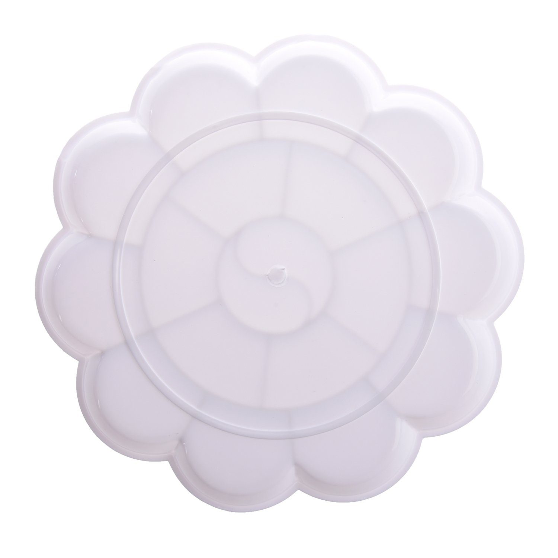 Cikuso Bandeja Paleta de Pintura para Acuarela 18 Compartimentos Plastico Blanco