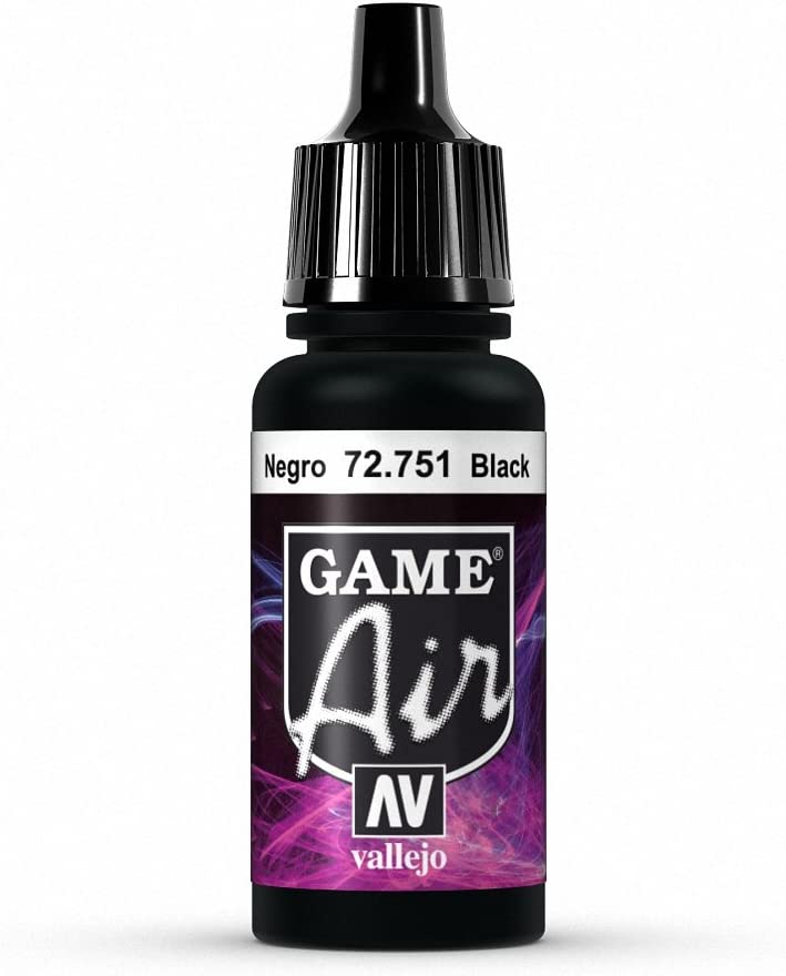 Vallejo Game Air Black Paint