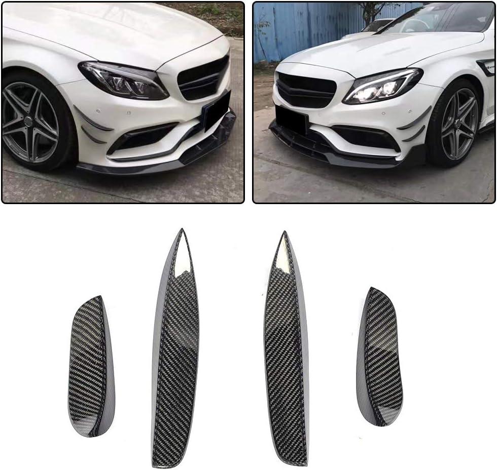 Fit Mercedes Benz W205 C43 C63 4D 15-19 Rear Bumper Splitter Fins Carbon Fiber