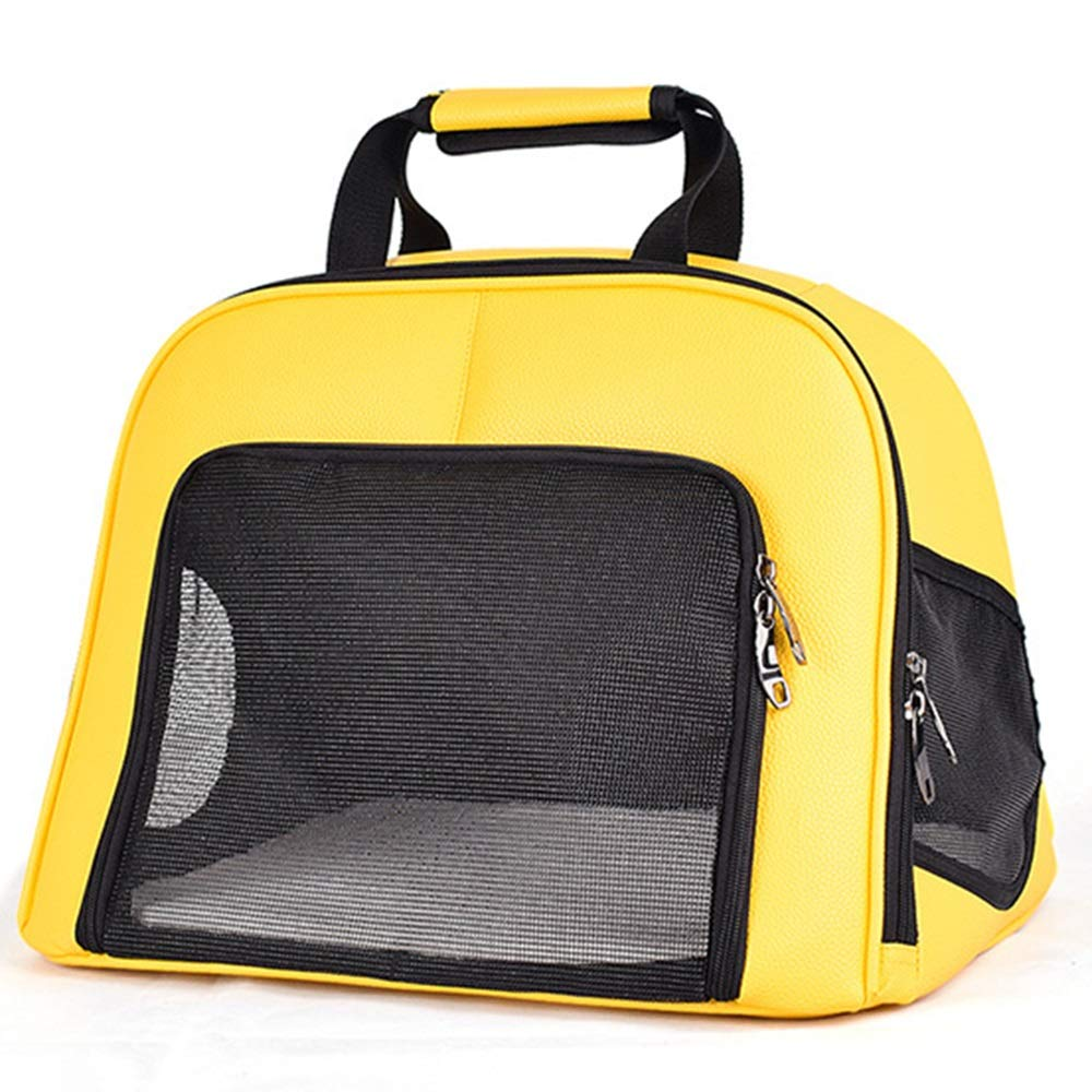 GJ Foldable Portable Handbag Cat Bag Breathable Mesh Cat Cage Pet Bag