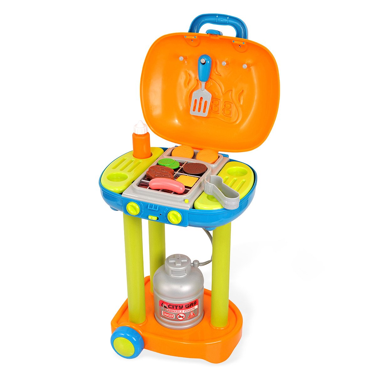 Spielzeug Grill Playgo Grill-Trolley