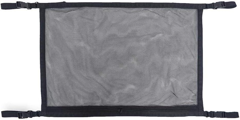 SUV Black Truck,31x21in Light-Ren Adjustable Elastic Heavy Duty Cargo Net,Car Ceiling Mesh Storage Bag,Mesh Zipper Storage Bag Adjustable Sundries Storage Bag for Car