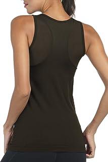 Amazon.com: Women Sleeveless Yoga Top Moisture Wicking ...