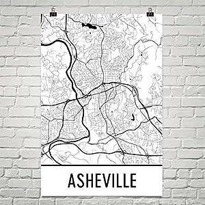 Amazoncom Asheville Poster Asheville Art Print Asheville Wall