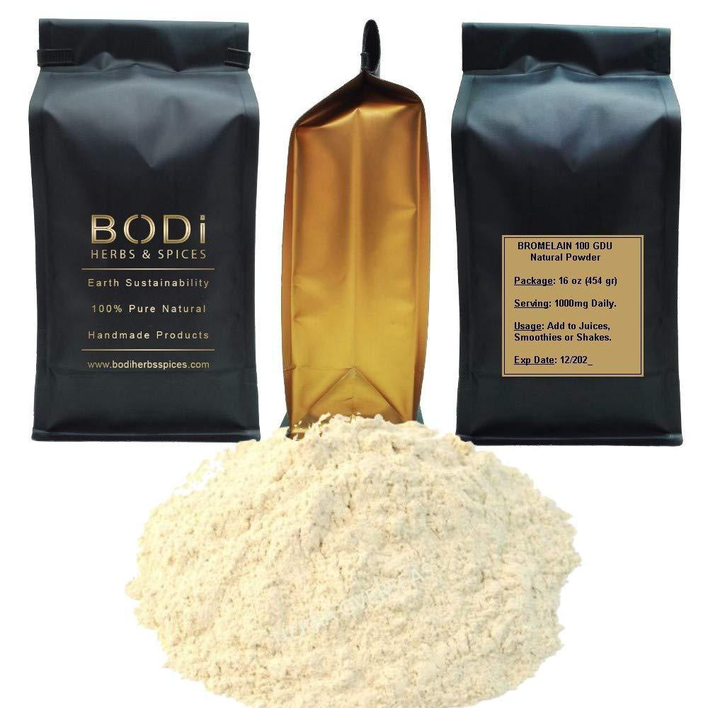 BODi : BROMELAIN 100 gdu - 100% Pure Natural Powder (4 8 16 32 oz) Superfood Immune Boost Digrstion (16 oz)