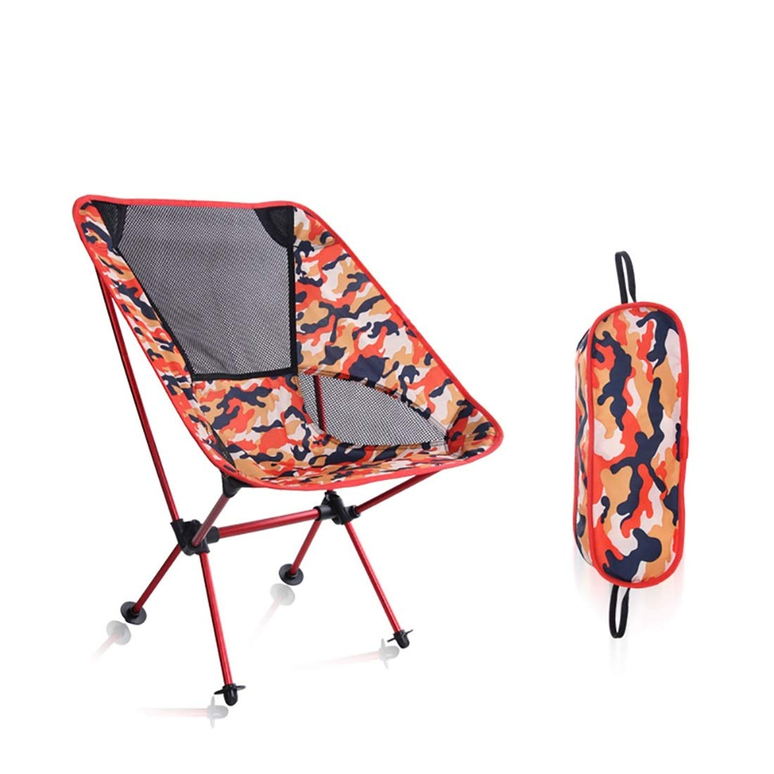 FUBULECY Outdoor-Stuhl Camping-Stuhl Angel-Stuhl Ultraleichter Stuhl Portable compact Einfacher Speicher Fall mit beweglichem Fall Bequemer kampierender Grill