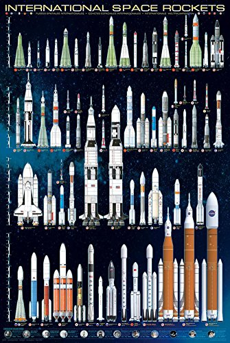 International Space Rockets, 24x36 Poster Print Poster Print