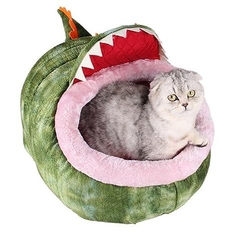 yunt gato cueva dibujos animados Saco de dormir para gatos pequeños perros acogedor Nest Mat Pet
