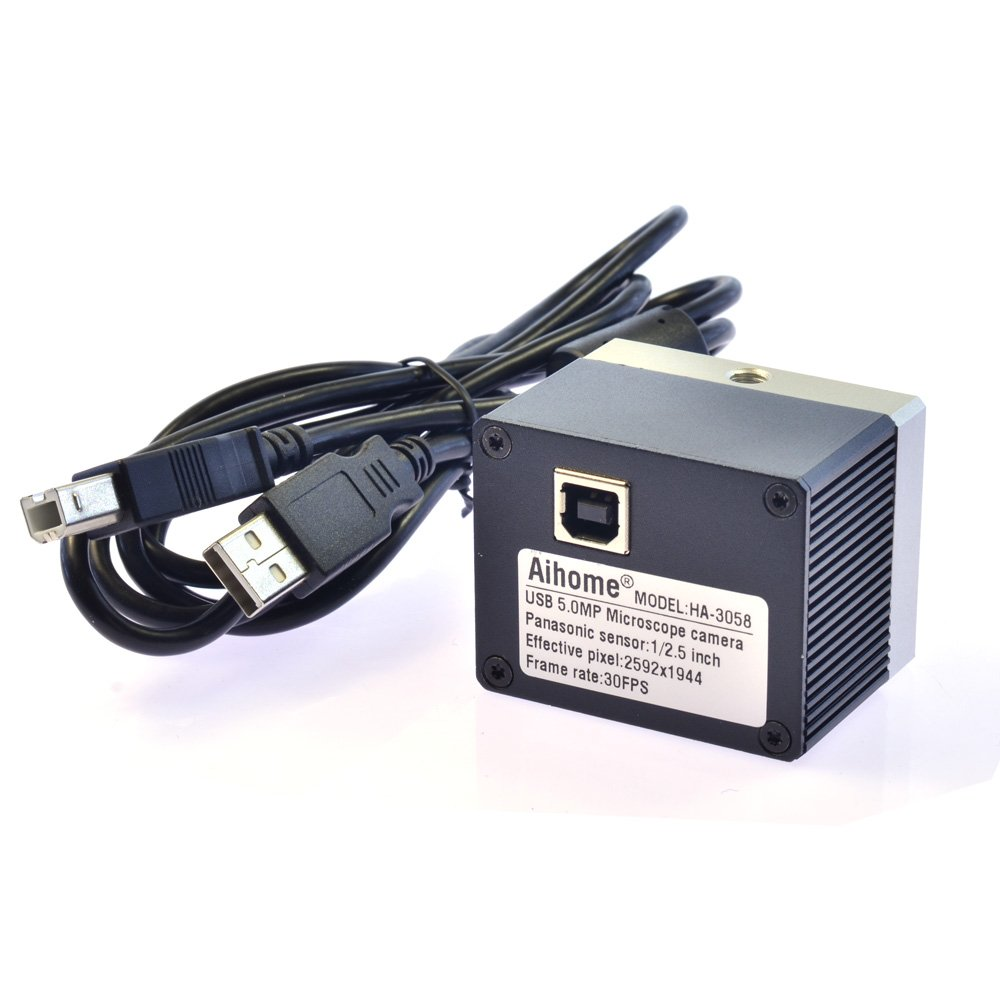 5.0MP HD USB Digital C-Mount Microscope Camera Kit 1/2.5'' Micron CMOS Industry PCB