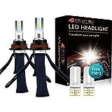 LED Headlight Bulbs Conversion Kit - 4WDKING 9007 HB5 Fanless Copper Braid Heat Dissipation Super Bright High/Low Beam 60W 80