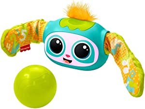 Fisher-Price Rollin' Rovee, interactive activity toy with music, lights, and learning content for kids ages 6 months to 5 years