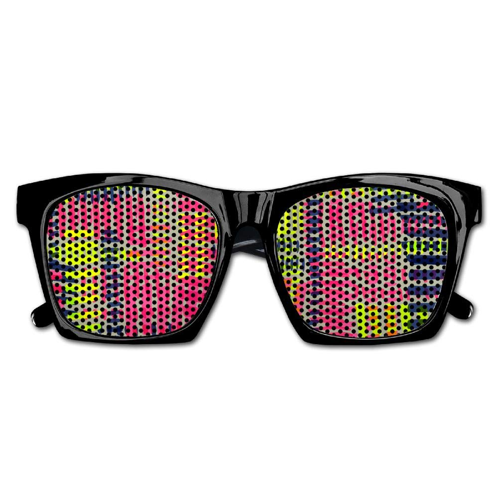Xing Stars Colorful Summer Unisex Knitting Style Color Lines Fashion Party Costume Sunglasses