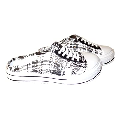 101 BEACH Children's Plaid Print Water Sneaker Clogs
