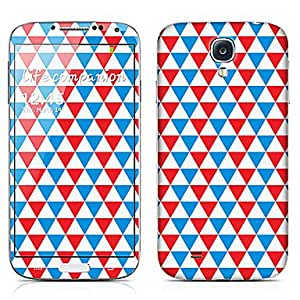 hao Colorful Triangle Pattern Front and Back Protector Stickers for Samsung Galaxy S4 I9500