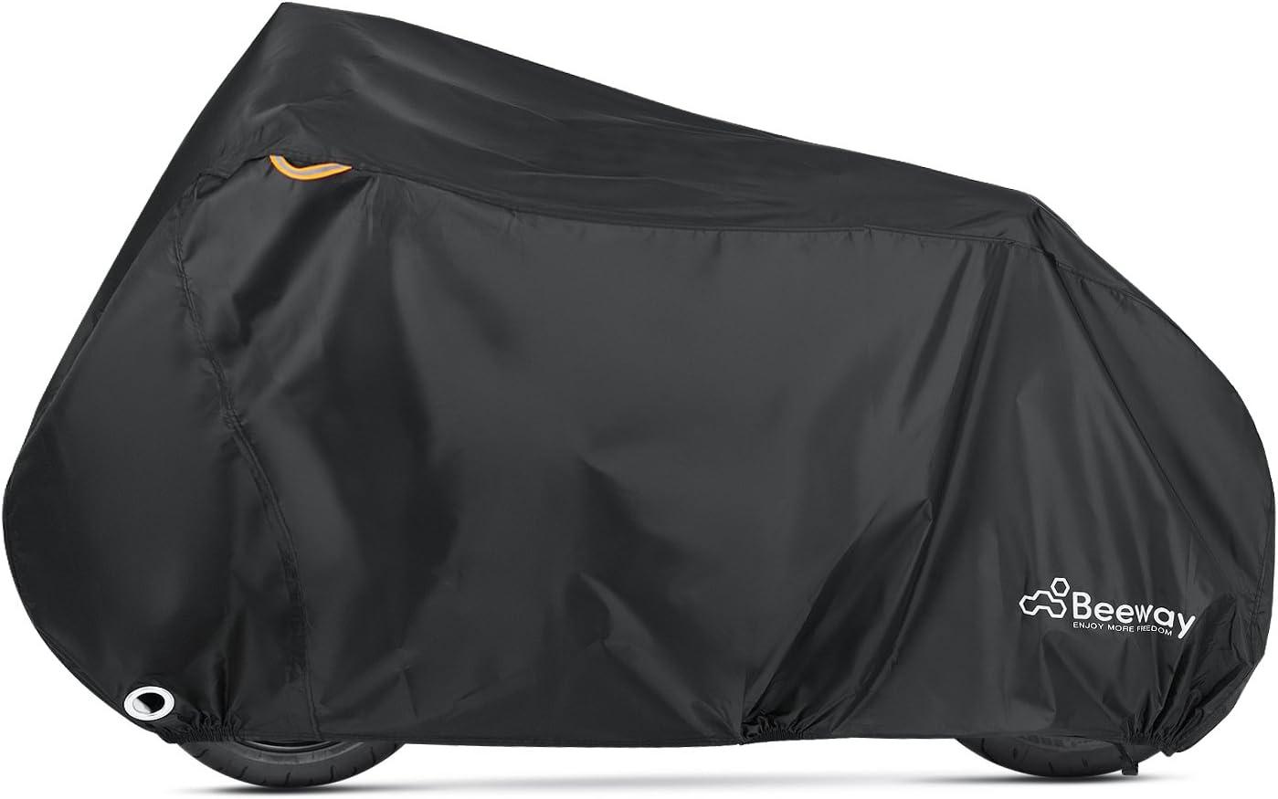 /Extra grande 240/cm Funda de Moto Beeway/® 190T nailon impermeable motocicleta cubierta/ /Interior y Exterior Anti Polvo Lluvia UV Protecci/ón con lock-holes bolsa de almacenamiento/