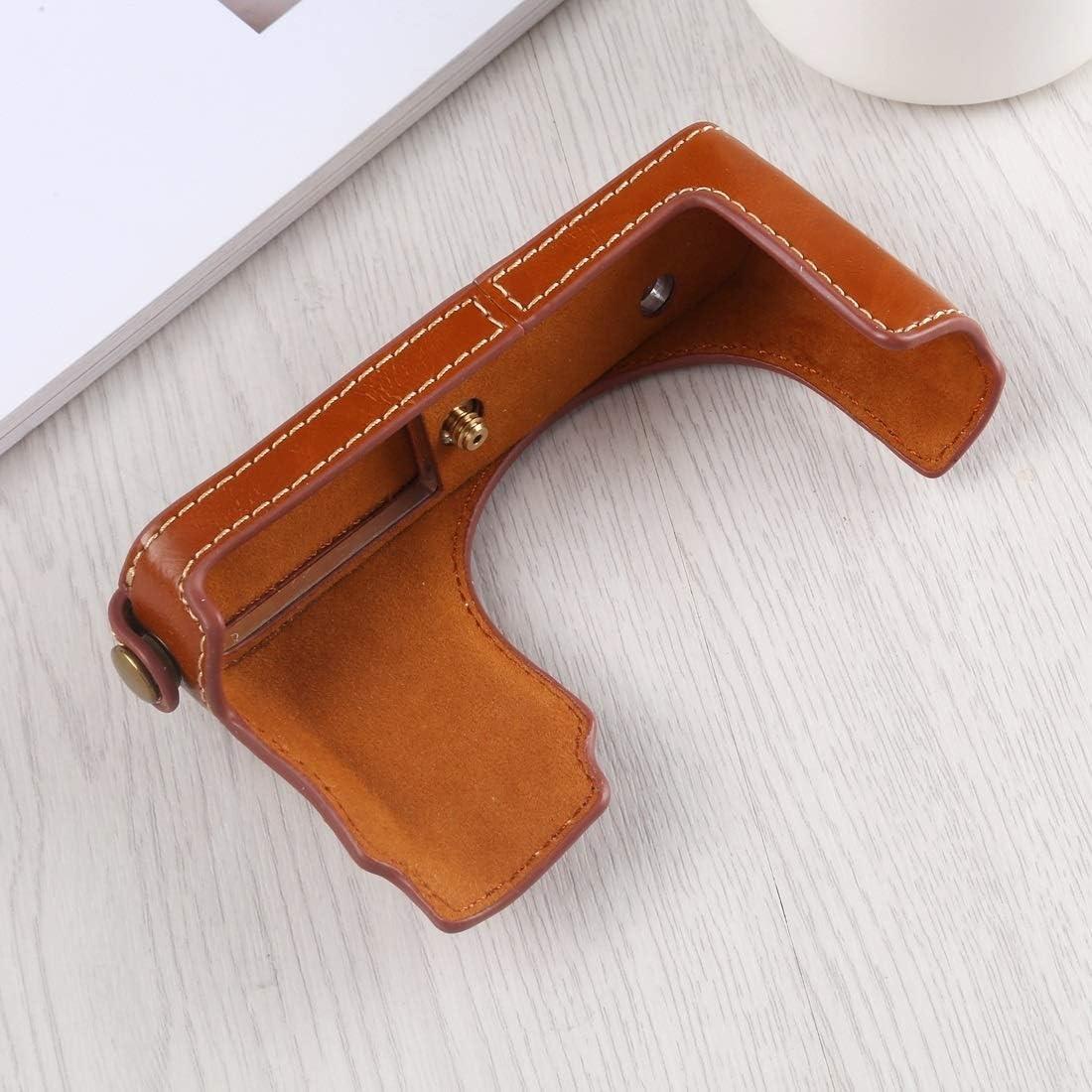 Ychaoya High-end Camera Case Wuzpx 1//4 inch Thread PU Leather Camera Half Case Cornerstone for Leica DLUX TYP 109 Black Color : Brown
