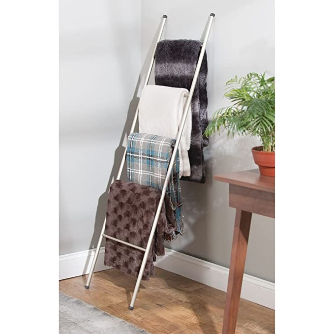 mDesign Toallero escalera - Práctico colgador de toallas con 5 barras para secar todo tipo de paños y toallas - Moderno toallero de pie para colocar sin ...