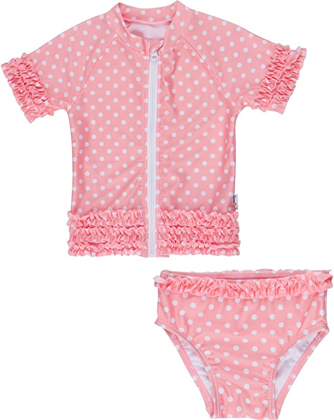 SwimZip Little Girl Sassy Surfer Rash Guard Swimsuit Set SZ115