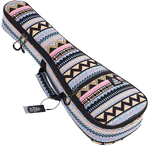 Ukulele Case Soprano Size Chacabo 8 Official Colors Double woven carry handle Adjustable backpack straps Ultra Thick Padding with Enhanced Glide Zipper