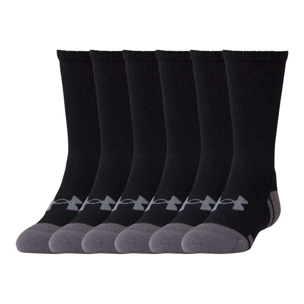 Under Armour UA Resistor III Crew - 6-Pack YLG Black