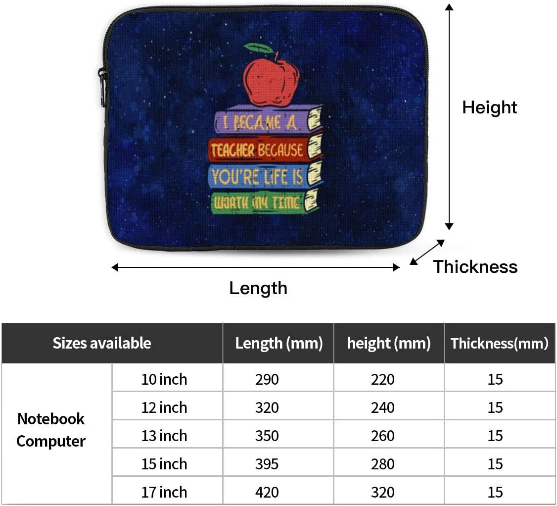 12 Inch 13 Inch 15 Inch Laptop Sleeve Higher School Education by Educator in Secondary School Tablet Bag 10 Inch 17 Inch