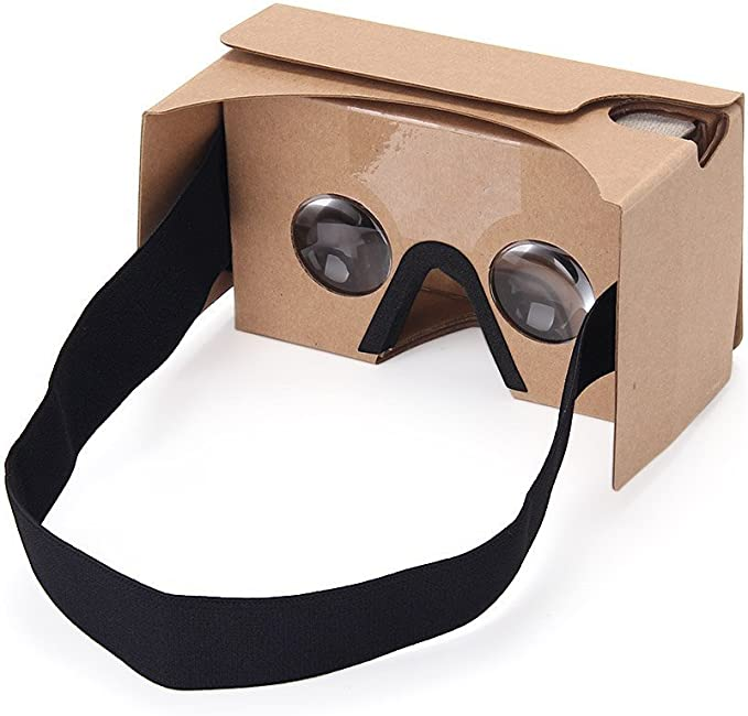 Virtoba ®Google Cardboard V2 3D Virtual Reality Headset Big Lens 3D VR Cardboard Glasses with Lengthened Head Strap Nose Pad ,Compatible with 3.5