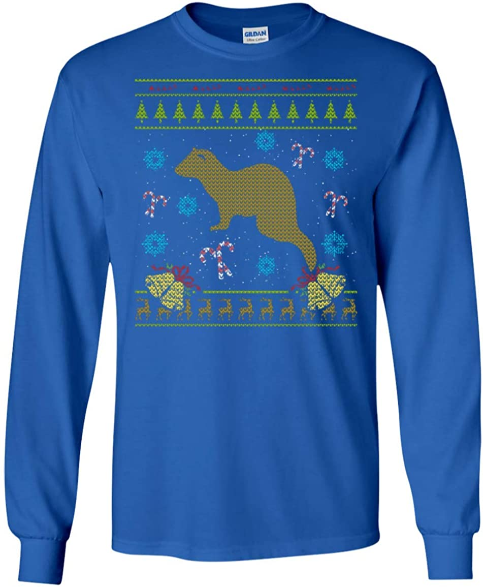 : Ferret Christmas Ugly Shirt Sweater Ugly Design
