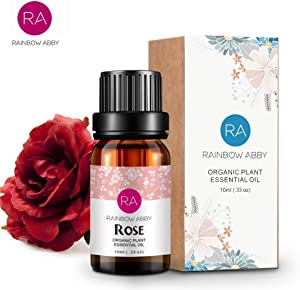 Rose Essential Oil 100% Pure Aromatherapy Oil for Diffuser, Perfumes, Massage, Skin Care, Soaps, Candles - 10ml