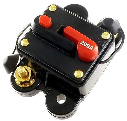 200 amp 12v dc circuit breaker replace fuse 200a 12vdc scosche rh amazon com