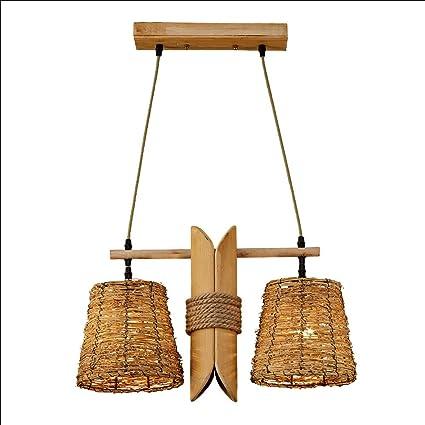 Lámpara De Mimbre De La Lámpara De Bambú Y Ratán Lámpara De ...