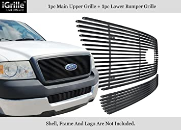 APS Compatible with 2004-2005 Ford F-150 Billet Grille Combo F87997A