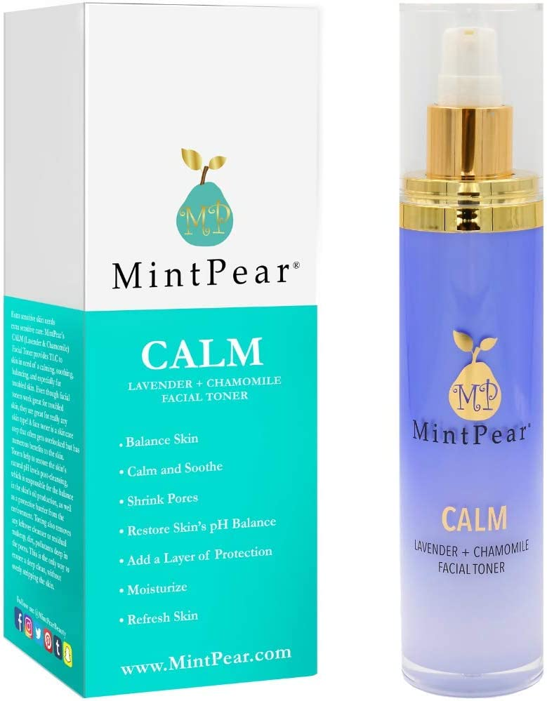 Facial Toner for Acne | Facial Toner for Aging Skin - Helps Unclog Pores - Decrease Acne- Hydrating Primer & Setting Hydrosol for Sensitive Skin by MintPear® (Lavender Chamomile)