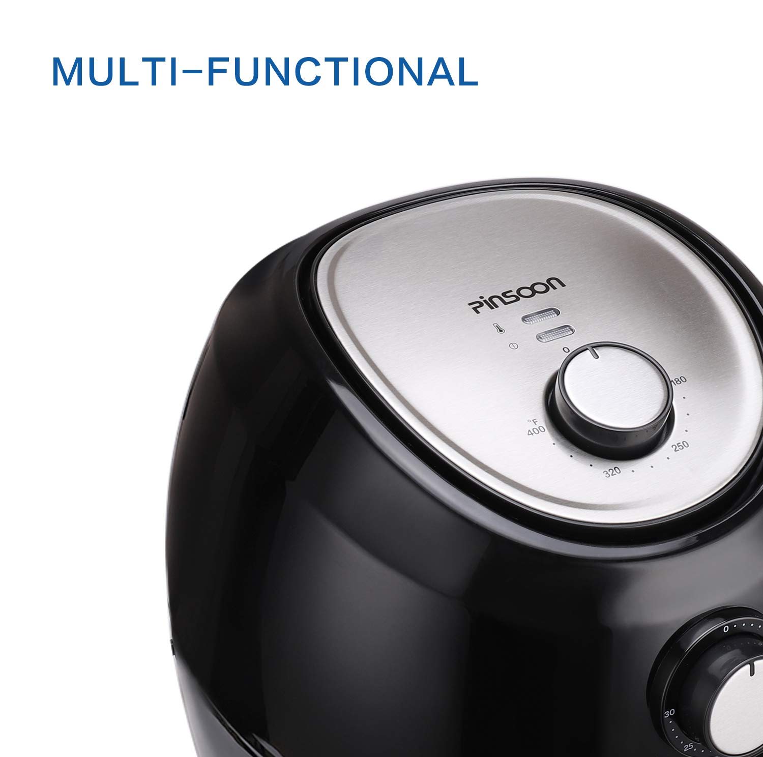 Air Fryer, Pinsoon Hot Air Fryer 5.8 QT 1700W with Auto Shut-off, Temperature and Time Control, Free Recipe for Health Cooking