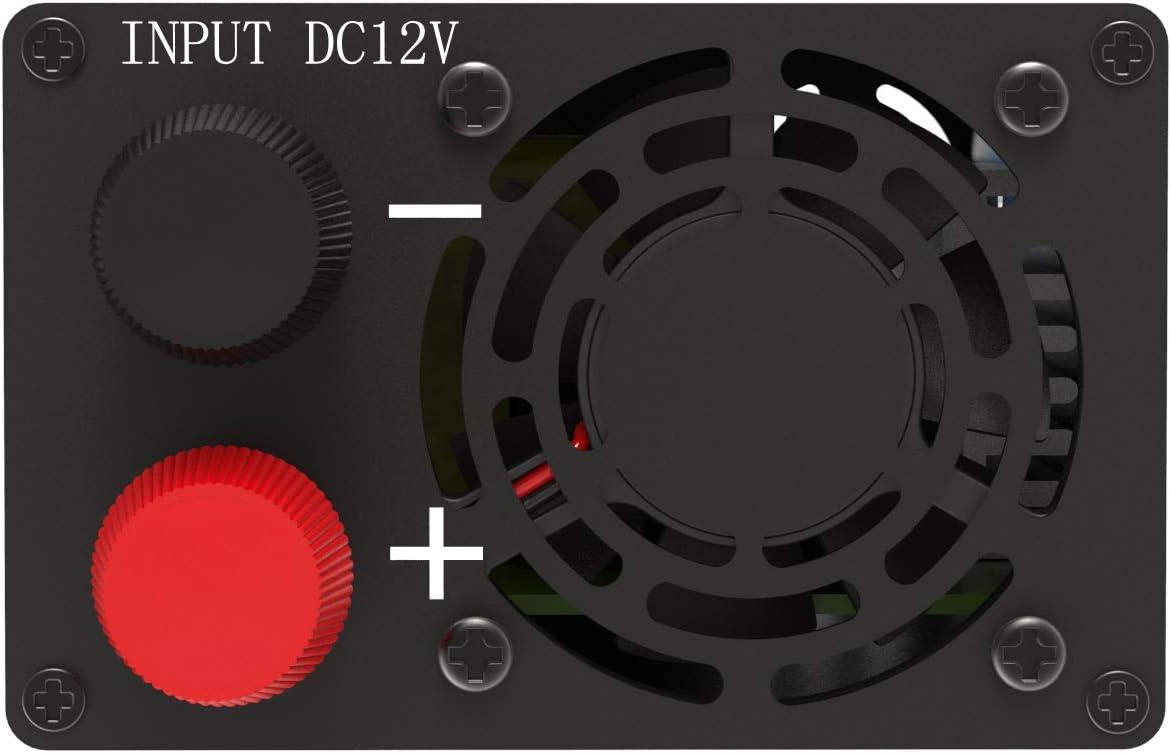 EDECOA Spannungswandler 600w Auto Spannungswandler 12v 220v Spannungswandler inkl Kfz Zigarettenanz/ünder Stecker und 2 USB Anschl/üsse