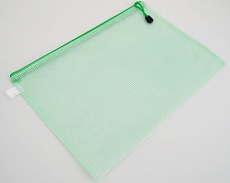 Monique 10 Pieces B5 Waterproof Plastic File Folder Paper Document Holder Receipts Organizer Zipper Storage Bag Blue