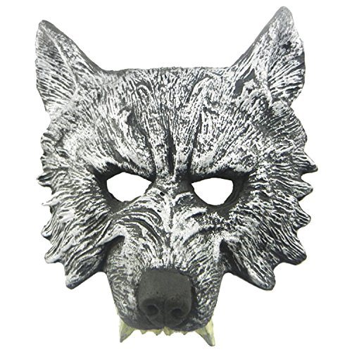 Homego Wolf Head Mask Creepy Horror Scary Monster Fancy Dress Costume Mask for Halloween and Party