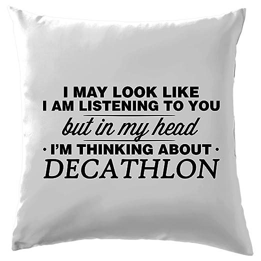En Mi Cabeza estoy Decathlon - Cojín 41 x 41 cm (16