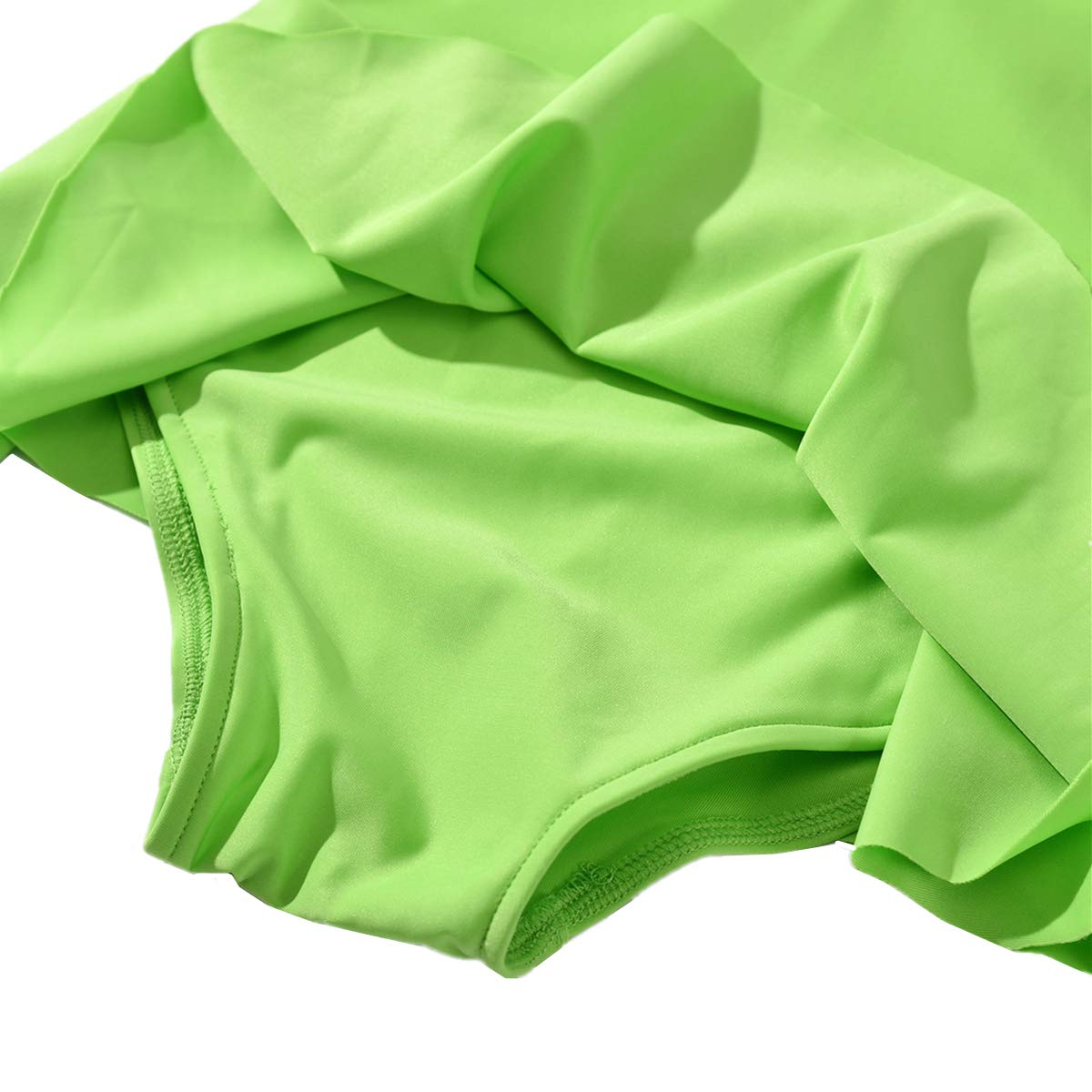 Baby Kid Girls Swimsuit Swimwear One Piece Toddler Ruffle Skirt Rashguard UPF 50 2-7t