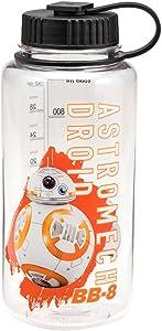 Vandor Star Wars: The Force Awakens BB-8 32 Ounce Tritan Water Bottle, Clear/Orange/Black