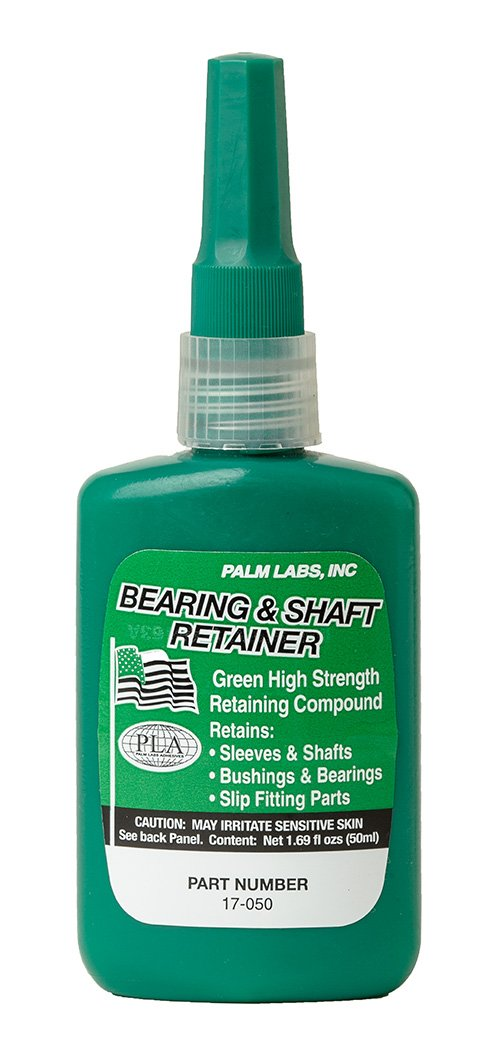 Bearing & Shaft Retaining Compound - High Temperature Slip Fit - Series 17-GP - Equivalent to Loctite 620. 50ml Bottles - Case of 10