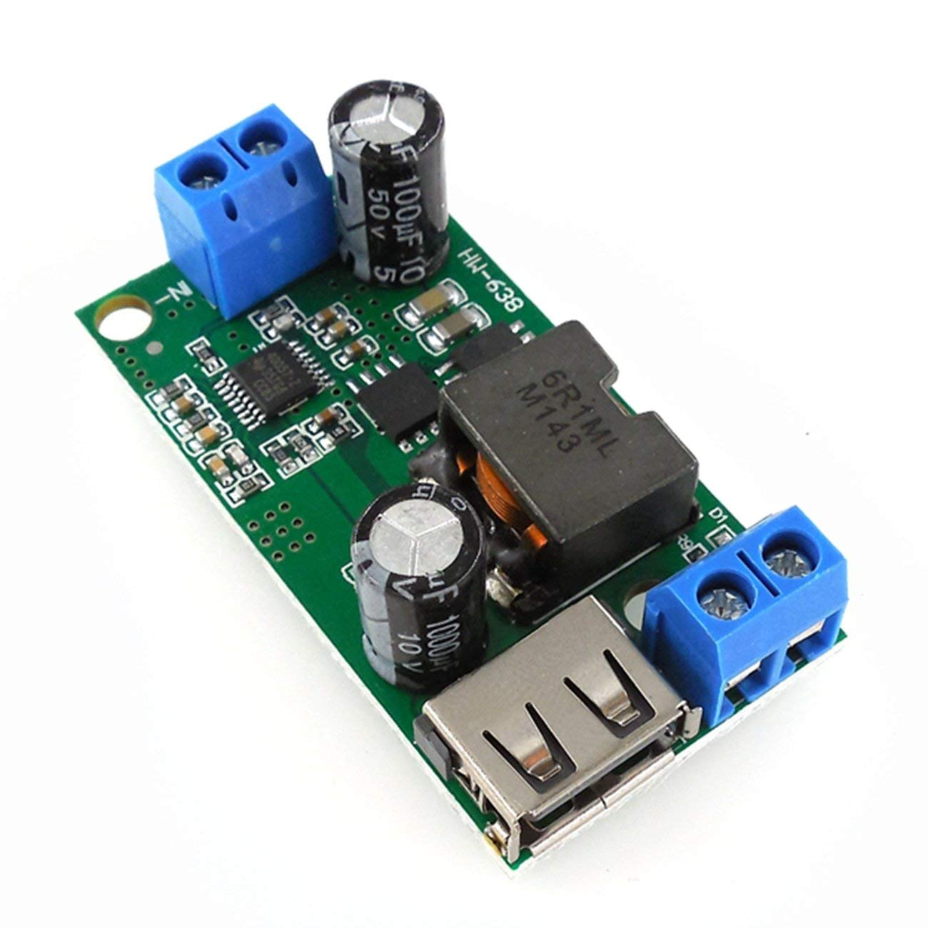 24V 36V a 5V Convertidor de Potencia Reductor 12V HW-638 5V Voltaje Estabilizador 9V