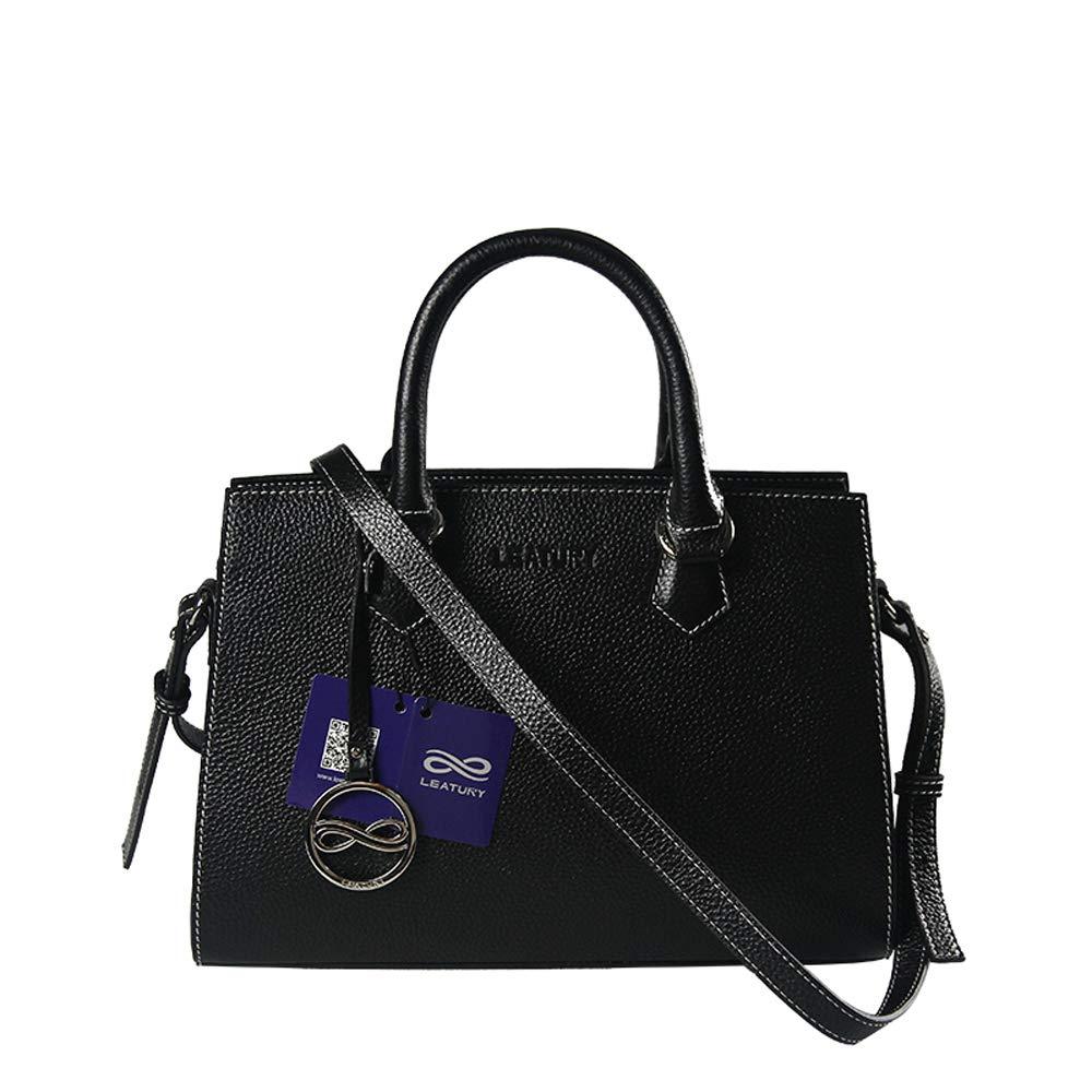 Black Women for handbag, Leather handbag Shoulder bag Messenger bag Designer handbag Leather wallet Medium